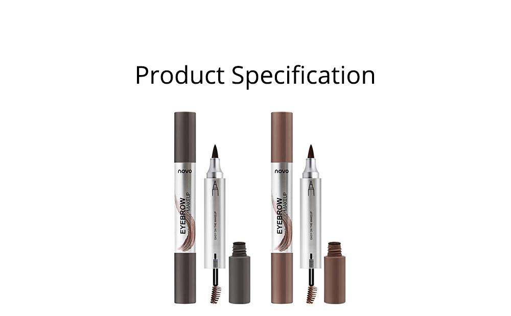 Dye Cream Eyebrow, Mark Pen Nib Eyebrow Pencil, Waterproof Eyebrow Pencil with Brush 2 Colors Available 7