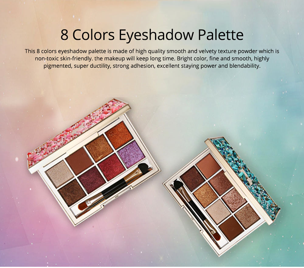 8 Colors Eyeshadow Palette, Matte and Glitter Eyeshadow Palette, Highly Pigmented Makeup Palette, Beauty Cosmetics 0