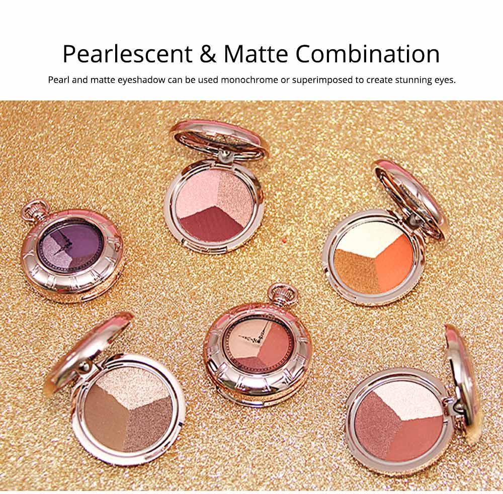 3 Colors Eyeshadow Set, Waterproof Long Lasting Makeup Eyeshadow Palette, Colorful Beauty Cosmetics 1