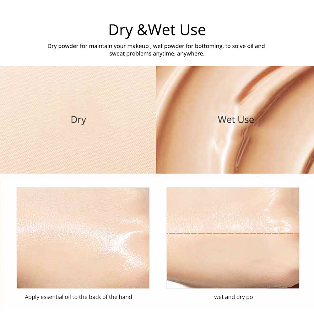 Natural Tone Foundation, Super Blendable Powder, Soft Breathable Concealer wit Dry Wet Use 6