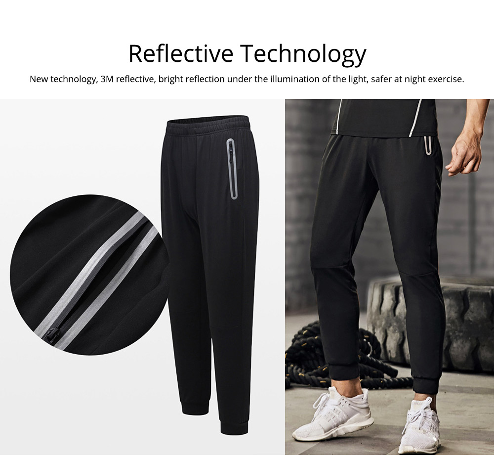 Men 2 Pieces Sports Suits, O-neck Slim Fit Workout Short Sleeve Sports T-short Cropped Pant with Zipper Pockets 5