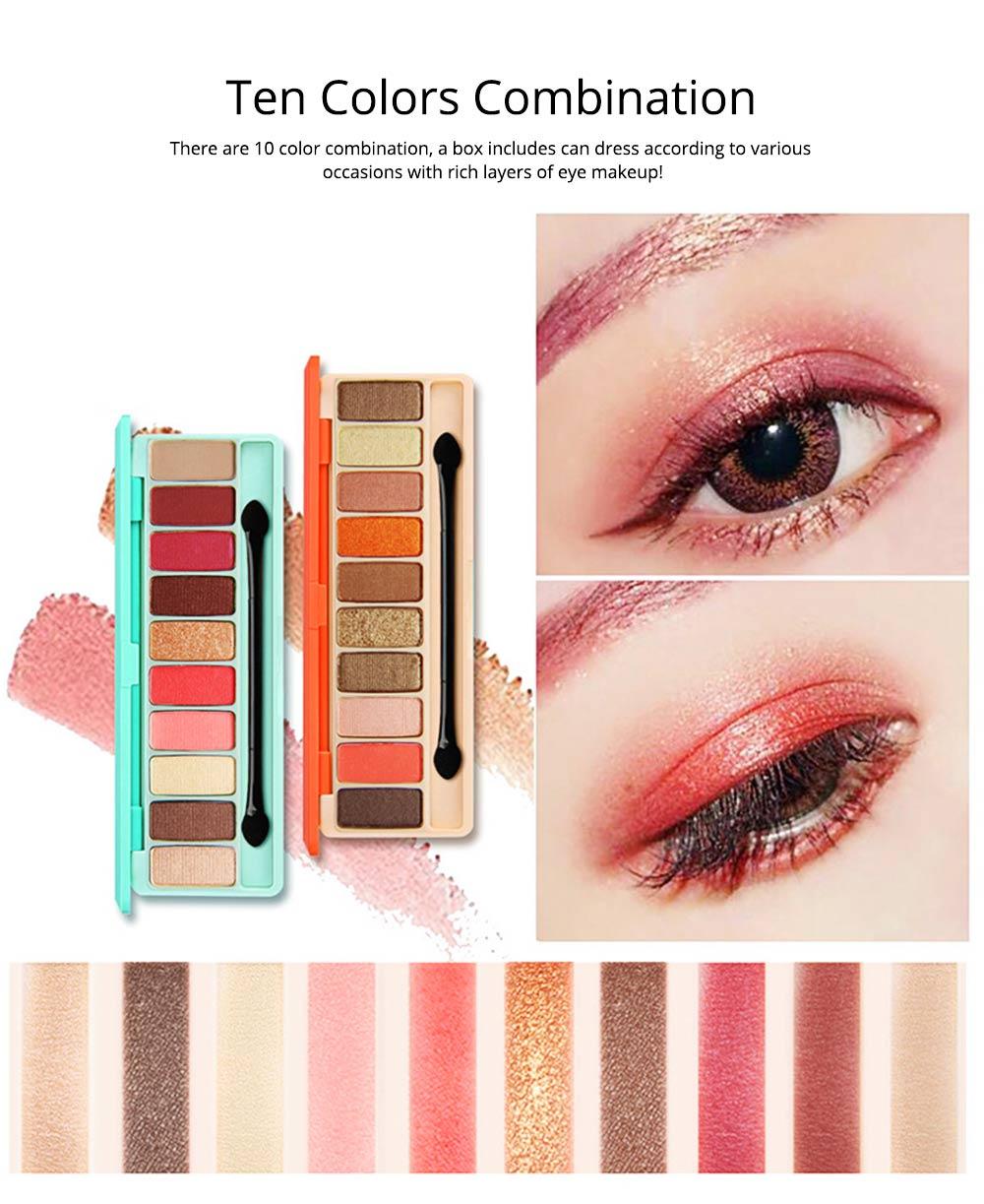 NOVO Ten Color Eye Shadow Palette, Long Lasting Eyeshadow Eye Shadow Kit, Girls Eye Makeup Beauty 1