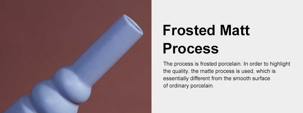 Ceramic Flower Pot Vase Matte Frosted Flower Pot Long & Short Pure Color Vase for Desktop Home Decor Gifts 5