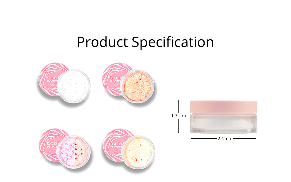 Loose Drying Matte Powder, Long-lasting Concealer Waterproof Face Powder, Oil-controlling & Moisturizing Fixing Powder 6