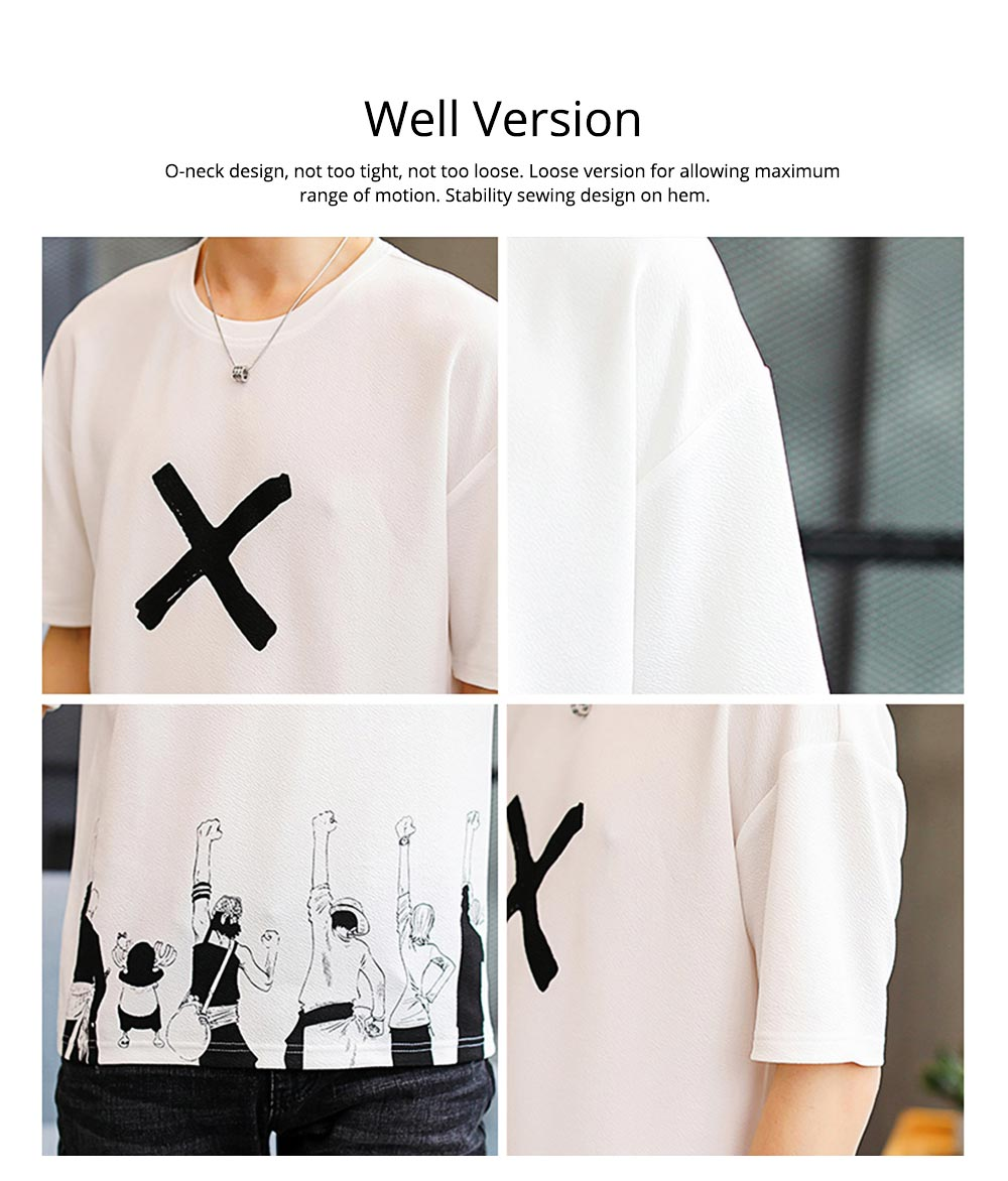 Men's Casual T-shirt, Short Sleeve Men's Tees, Fashion Stretch Creative Pattern Quick-dry T-shirts for Men 1