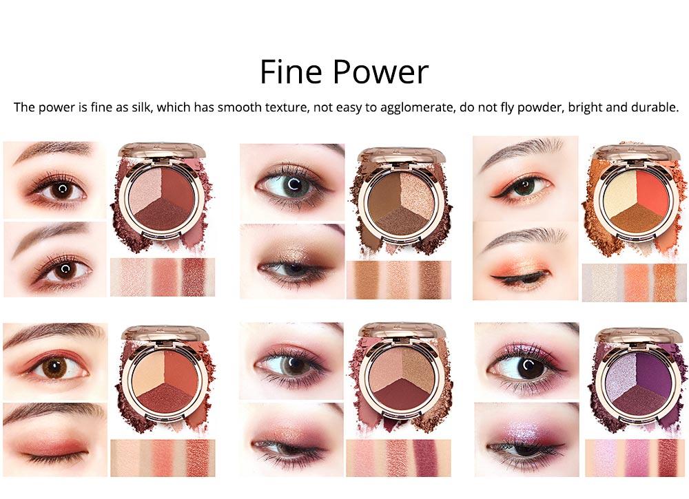 3 Colors Eyeshadow Set, Waterproof Long Lasting Makeup Eyeshadow Palette, Colorful Beauty Cosmetics 4