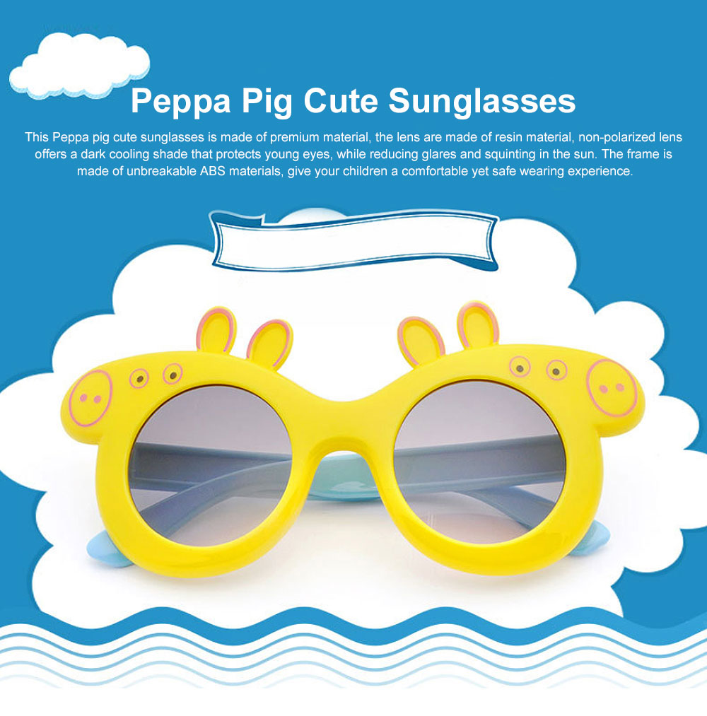 Peppa Pig Cute Sunglasses Children Cartoon UV400 Sun Protection Kid Costume Sunglasses Best Gifts for Kids 0
