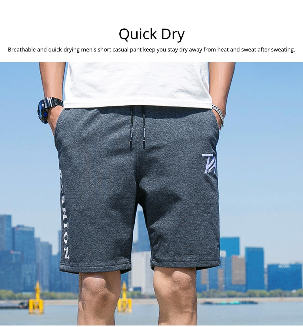 Men Summer Short Pants with Pockets, Causal Beach Shorts with Elastic Waist Drawstring, Lightweight Loose Shorts 4