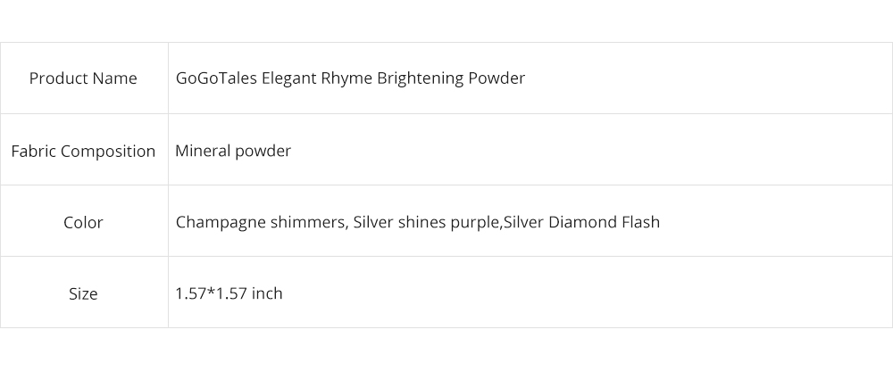 Elegant Rhyme Brightening Powder, Fairy Diamond High Gloss Powder, Cosmetic Disk With Sparkling Pearlescent 7