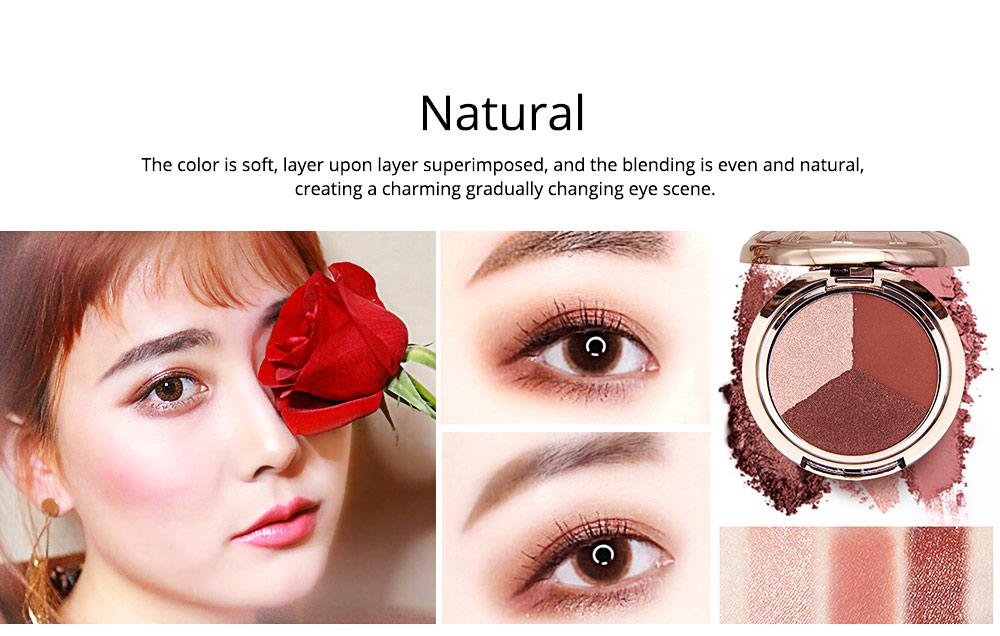 3 Colors Eyeshadow Set, Waterproof Long Lasting Makeup Eyeshadow Palette, Colorful Beauty Cosmetics 2