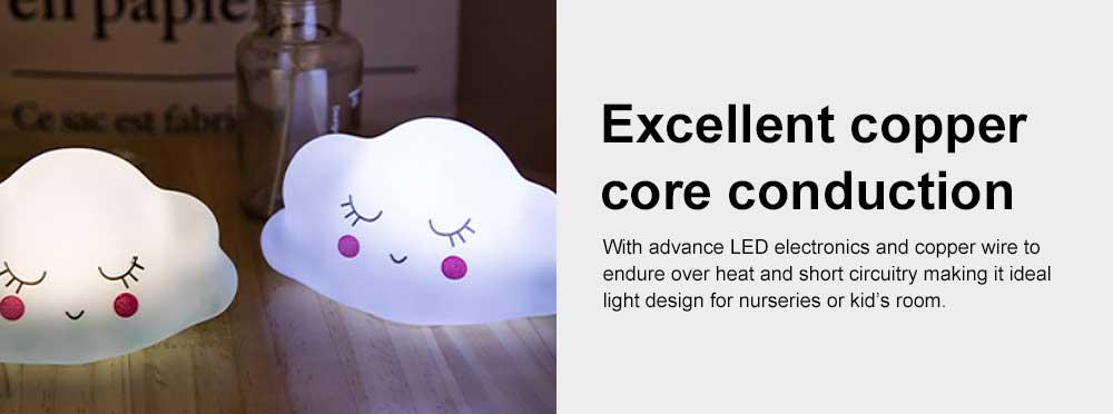 LED Cloud Shape Smile Night Light, Warm Lighting Colorful Bed Side Lights, Home Decor for Kids Baby Nursery Living Room Dorm 5