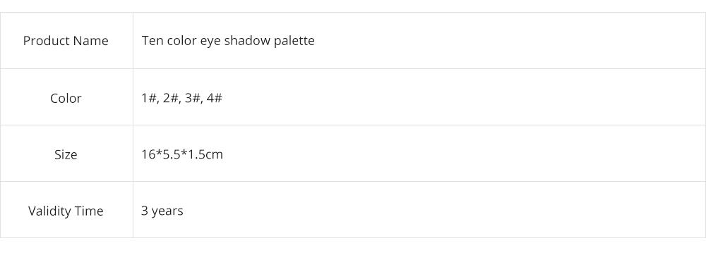 NOVO Ten Color Eye Shadow Palette, Long Lasting Eyeshadow Eye Shadow Kit, Girls Eye Makeup Beauty 8