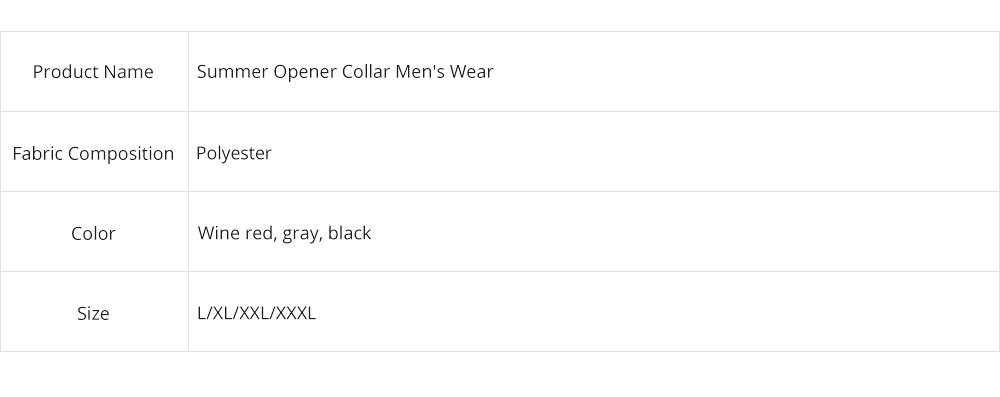 Summer Opener Collar Men's Wear 2019, Simulated Silk Short Sleeve Short Pants Home Suit 9