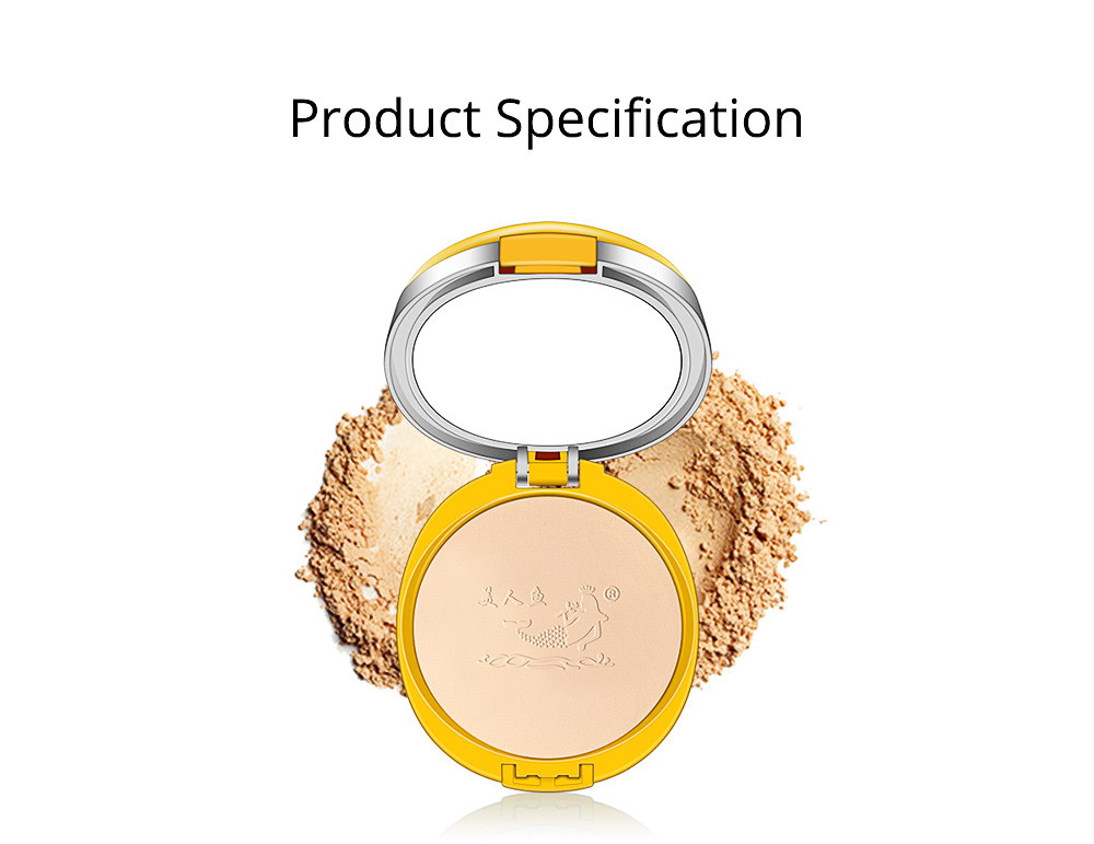 Natural Tone Foundation, Super Blendable Powder, Soft Breathable Concealer wit Dry Wet Use 7