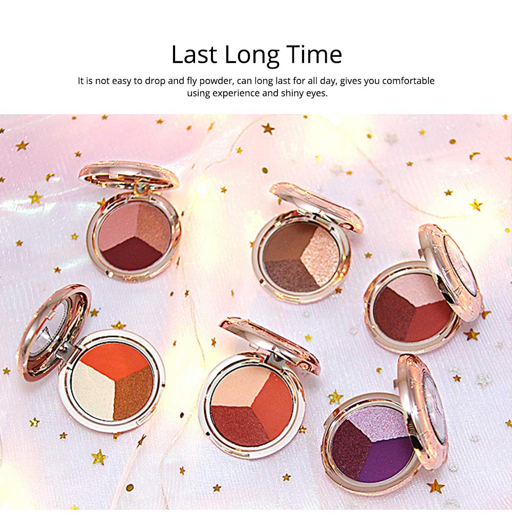 3 Colors Eyeshadow Set, Waterproof Long Lasting Makeup Eyeshadow Palette, Colorful Beauty Cosmetics 3
