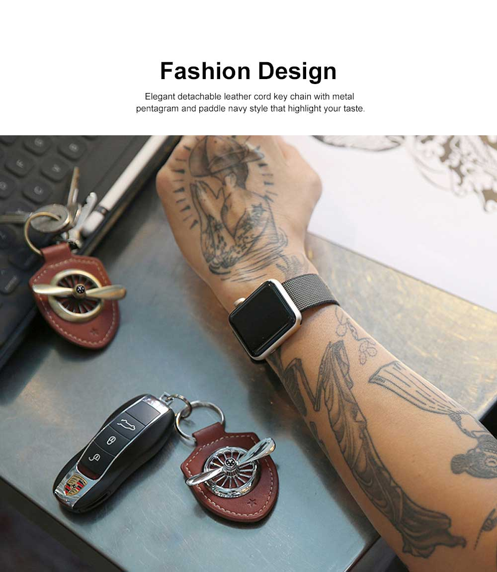 Leather Metal Key Chain Air Force No.2 Keychain Key Ring Men Fashion Accessories Gifts for Boyfriend Men 2