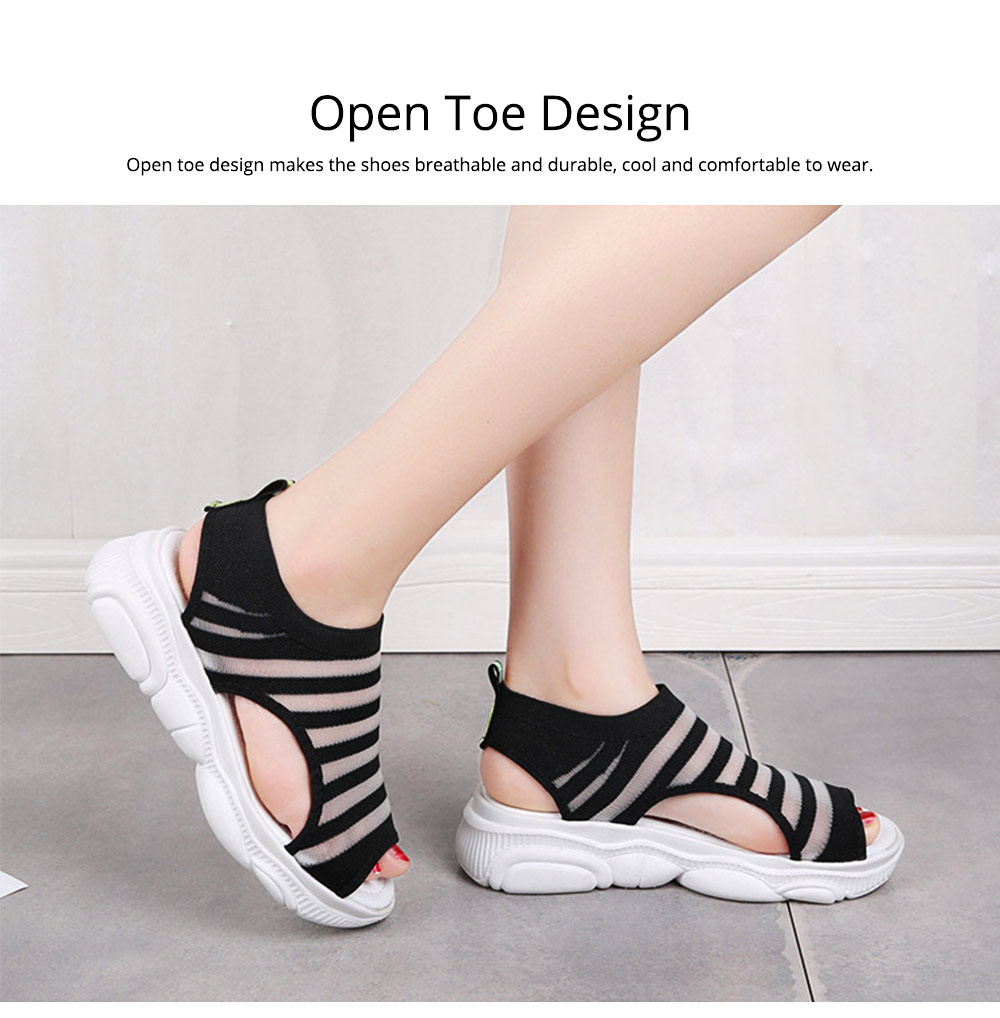 Ladies' Open Toe Sandals, Fish Mouth Shoes, Thick Soles Sport Sandals for Women 4