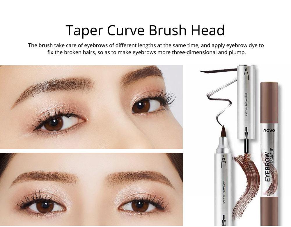 Dye Cream Eyebrow, Mark Pen Nib Eyebrow Pencil, Waterproof Eyebrow Pencil with Brush 2 Colors Available 3