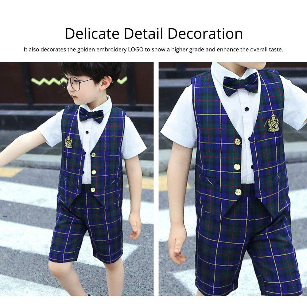 Children's Suit Waistcoat Suit, Korean Flower Children's Dress Suit, Handsome Boy Suit 2
