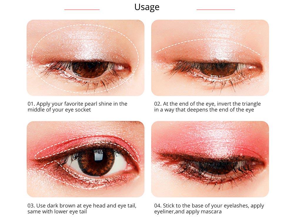 NOVO Ten Color Eye Shadow Palette, Long Lasting Eyeshadow Eye Shadow Kit, Girls Eye Makeup Beauty 6