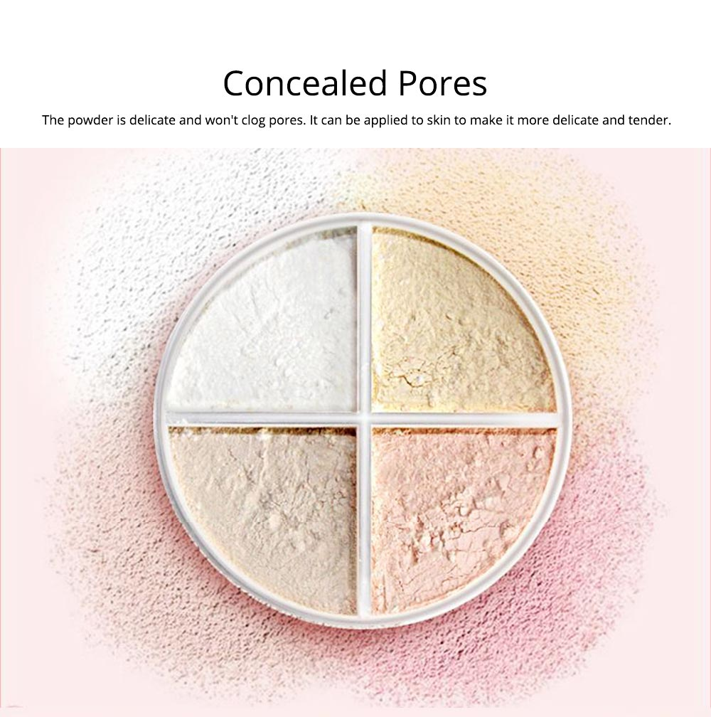4 Colors Loose Powder Cosmetic, Finishing Powder with Imperial Palace Printed Shell, NOVO Moisture Lasting & Waterproof Powder 2