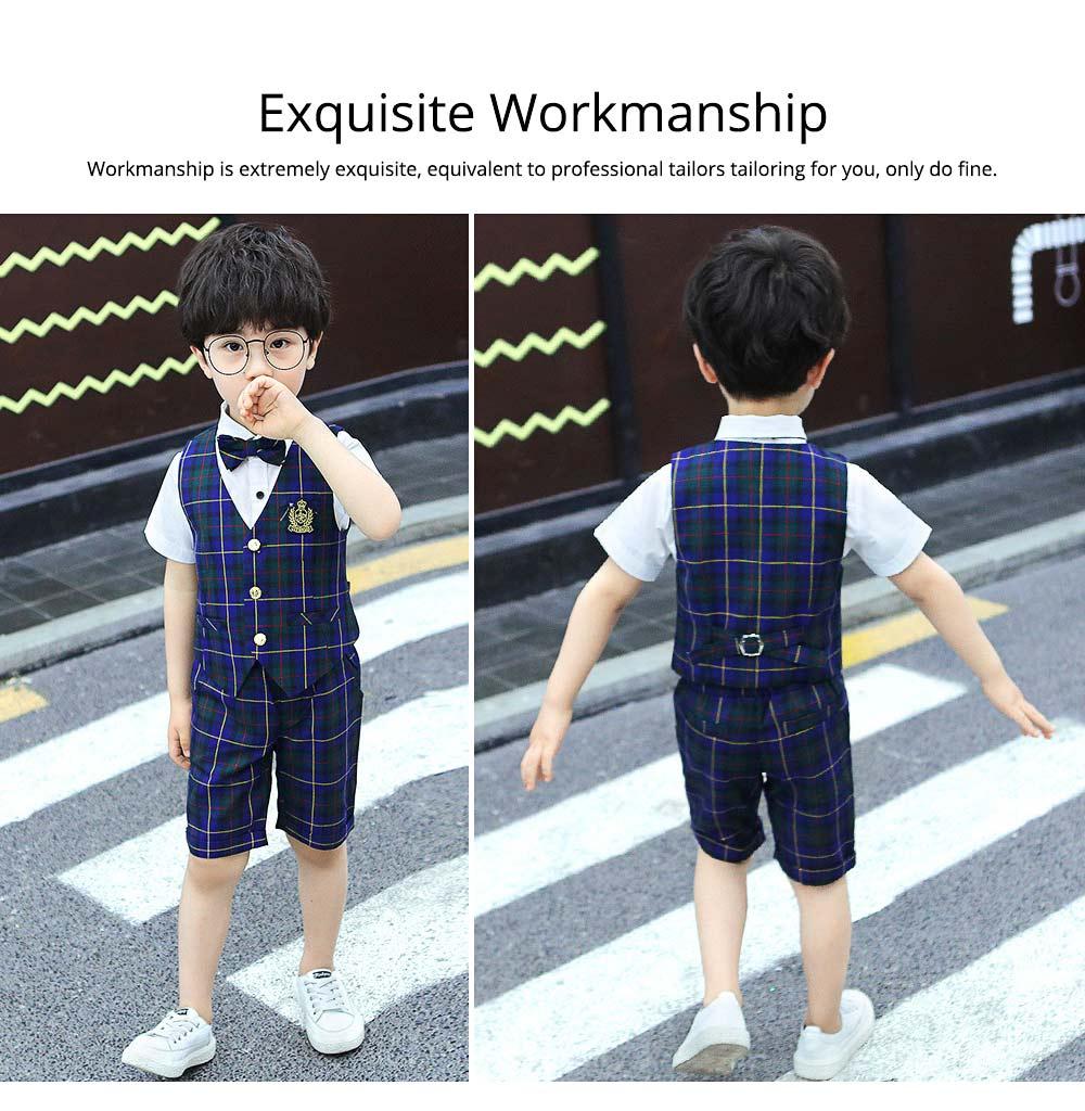 Children's Suit Waistcoat Suit, Korean Flower Children's Dress Suit, Handsome Boy Suit 5