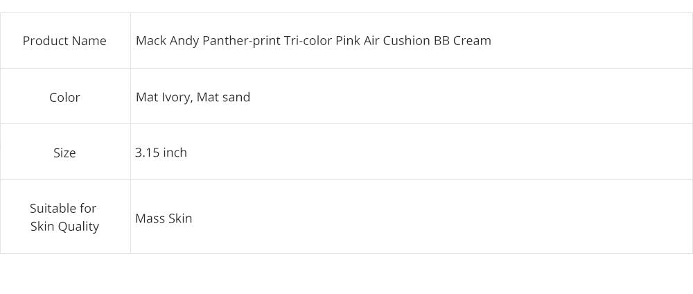 Tri-color Pink Air Cushion BB Cream, Concealer Moisturizing Oil Control Makeup Make Up Foundation Cream 8
