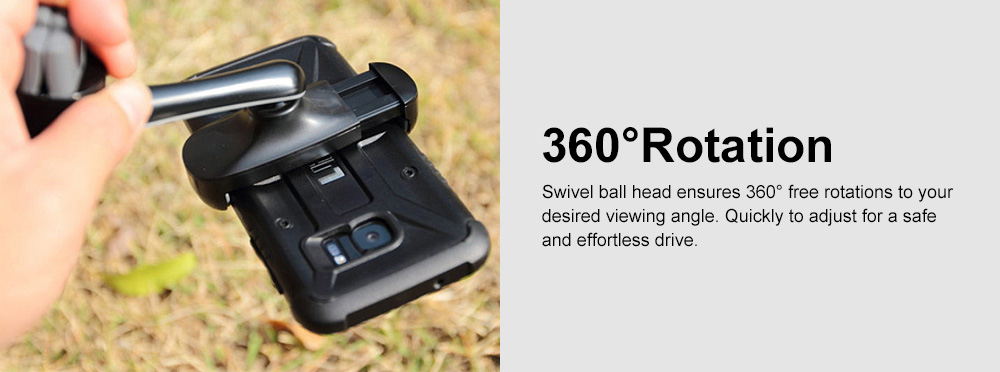 Air Vent Car Phone Mount 360 Degree Rotation Height Adjustable Phone Holder Universal Air Outlet Bracket for Phone 4-6 Inch 5