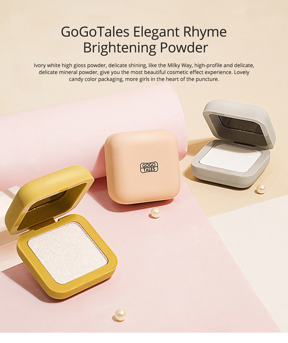 Elegant Rhyme Brightening Powder, Fairy Diamond High Gloss Powder, Cosmetic Disk With Sparkling Pearlescent 0
