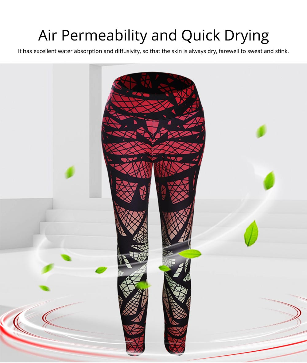 Sexy Fitness Pants with Explosive Fashion, Mixed Gradual Geometric Printed Yoga Pants for Female 7
