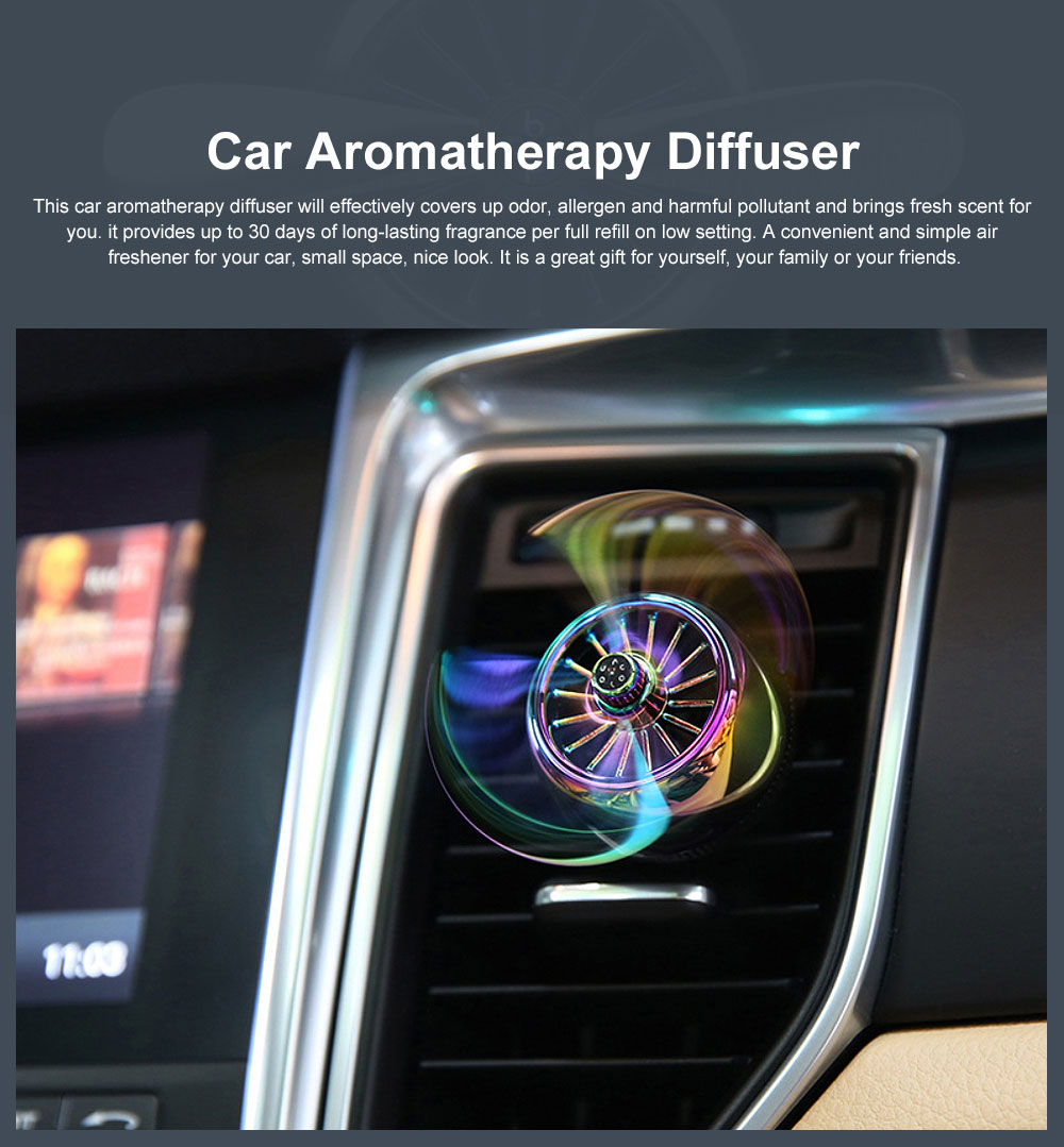 Car Aromatherapy Diffuser Rotating Car Solid Essential Oil Fragrance Diffuser Car Perfume Air Freshener for Removing Smoke and Bad Odors 0