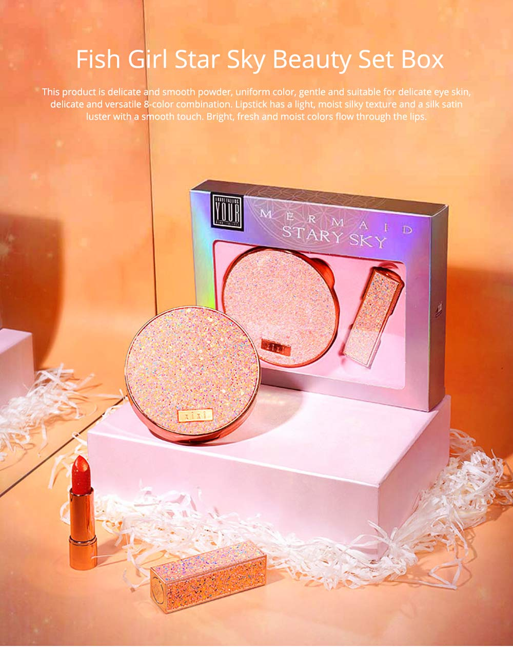 Star Sky Beauty Set Box Student Fairy Eye Shadow Disc, Internet Explosion Beauty Gift Box Set 0