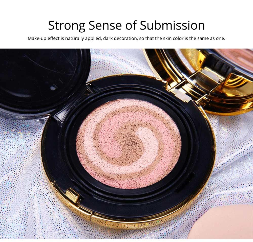 Tri-color Pink Air Cushion BB Cream, Concealer Moisturizing Oil Control Makeup Make Up Foundation Cream 5