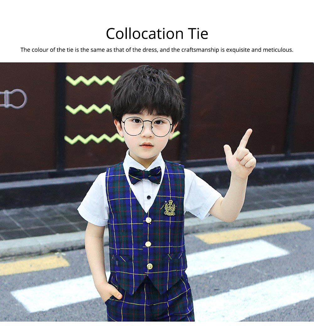 Children's Suit Waistcoat Suit, Korean Flower Children's Dress Suit, Handsome Boy Suit 4