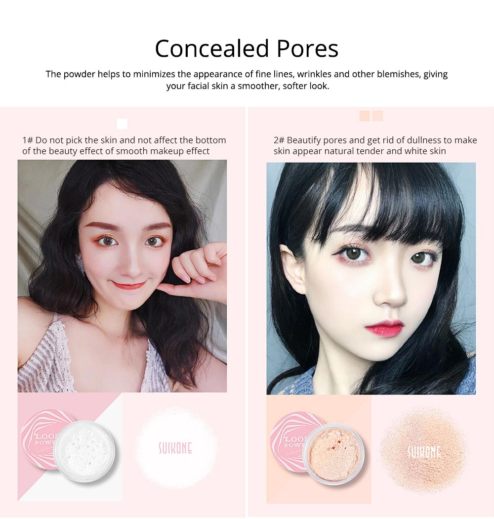 Loose Drying Matte Powder, Long-lasting Concealer Waterproof Face Powder, Oil-controlling & Moisturizing Fixing Powder 2