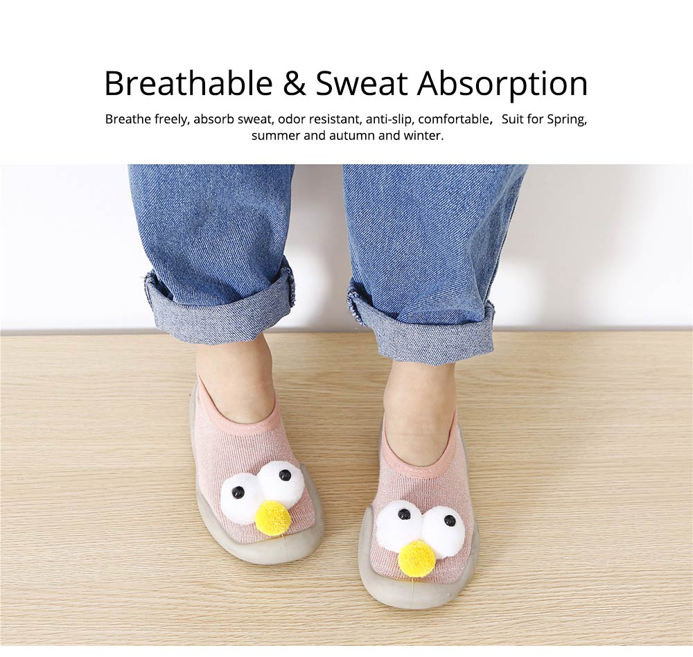 Baby Toddler Walking Shoes, Non-skid Socks Rubber Sole Breathable Cotton Indoor Floor Slipper, Walk Socks Shoes 2
