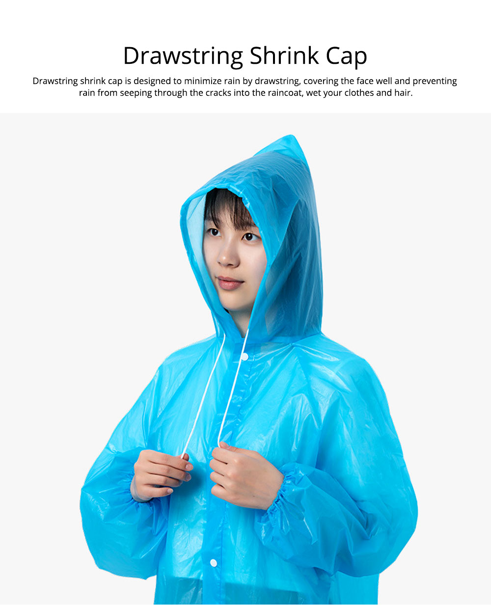 Portable Disposable Slim Raincoat Ponchos for Adults Teens, Transparent Raincoat for Camping Hiking Outdoors 1