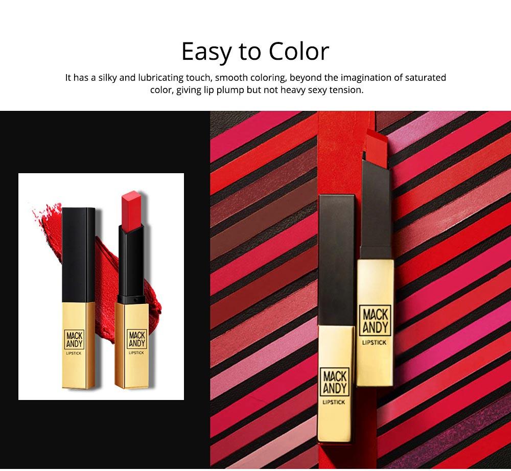 Matte Mist Face Lipstick with Little Gold Tube, Durable Light Stickiness Small Gold Bar Matte Lipstick for Girls 1
