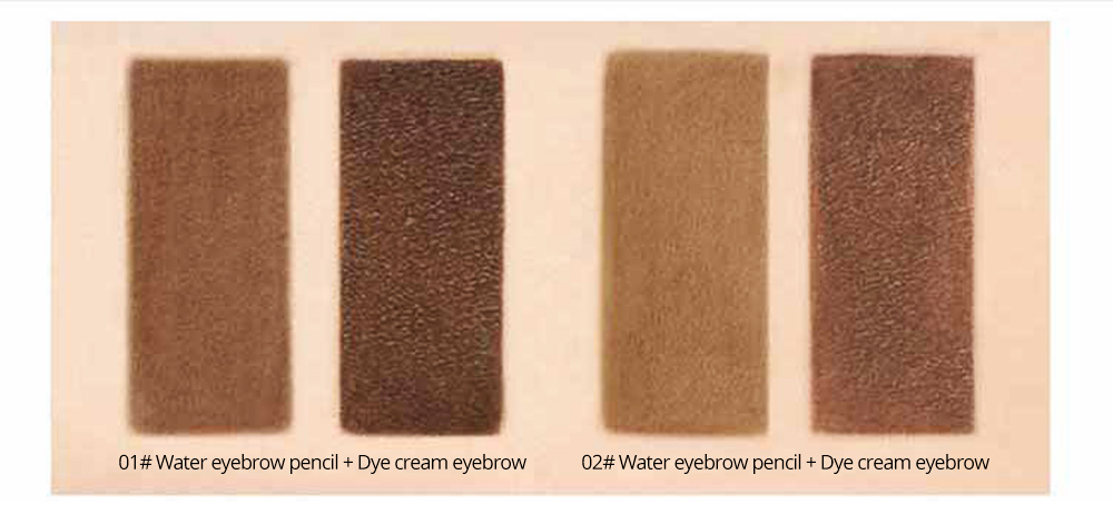 Dye Cream Eyebrow, Mark Pen Nib Eyebrow Pencil, Waterproof Eyebrow Pencil with Brush 2 Colors Available 2