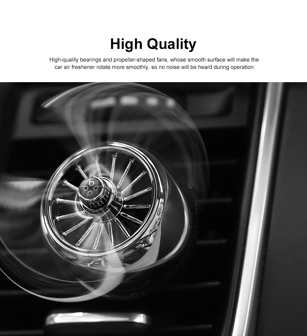 Car Aromatherapy Diffuser Rotating Car Solid Essential Oil Fragrance Diffuser Car Perfume Air Freshener for Removing Smoke and Bad Odors 3