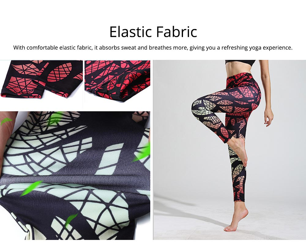 Sexy Fitness Pants with Explosive Fashion, Mixed Gradual Geometric Printed Yoga Pants for Female 6