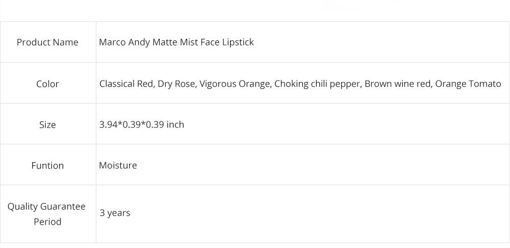 Matte Mist Face Lipstick with Little Gold Tube, Durable Light Stickiness Small Gold Bar Matte Lipstick for Girls 10