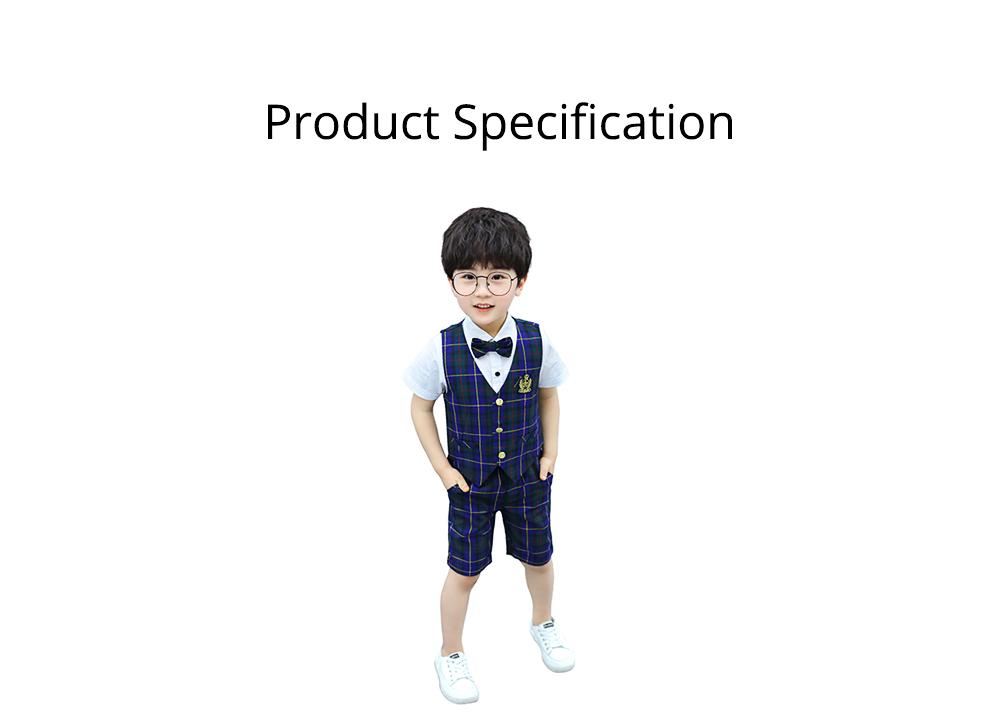 Children's Suit Waistcoat Suit, Korean Flower Children's Dress Suit, Handsome Boy Suit 6