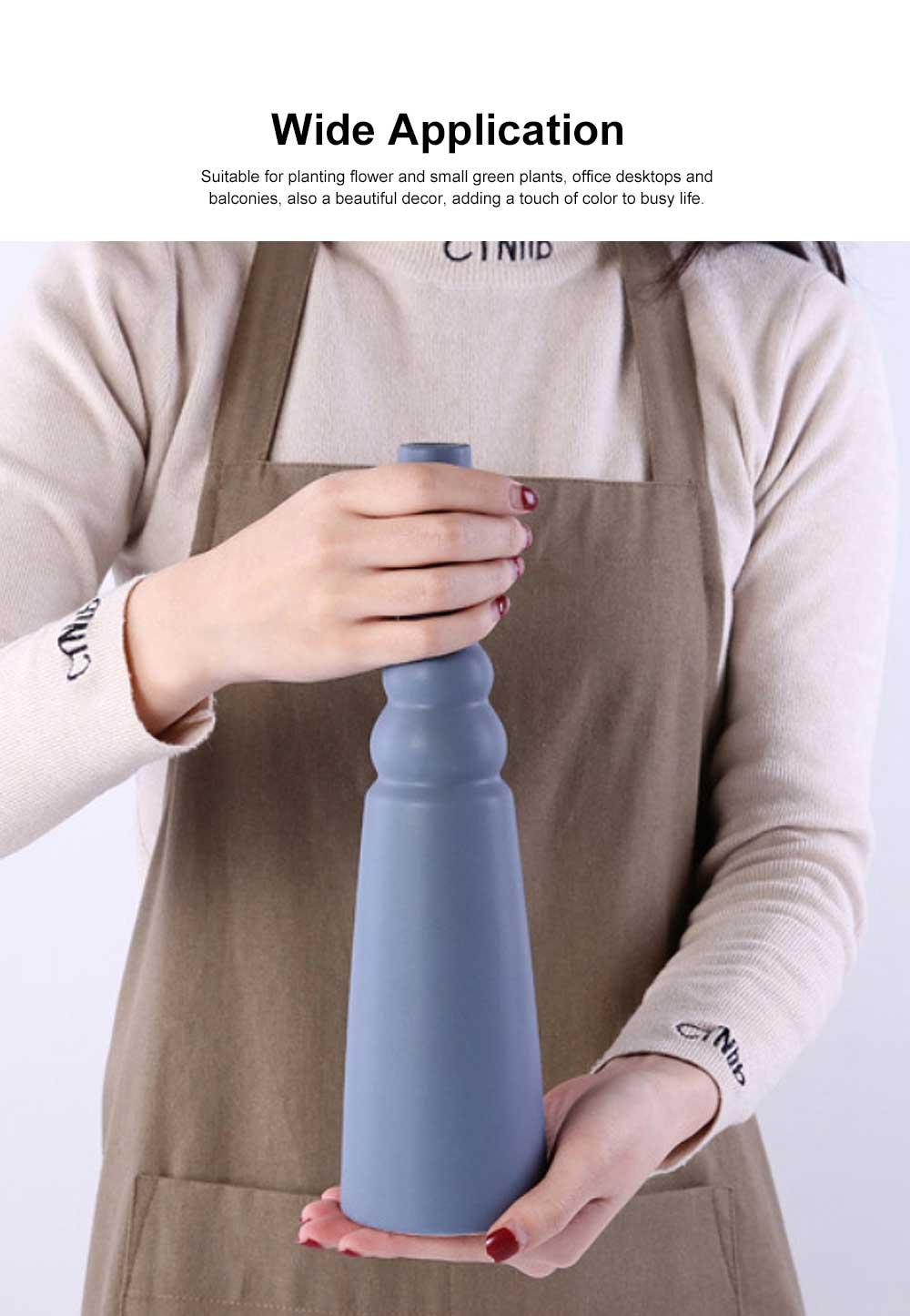 Ceramic Flower Pot Vase Matte Frosted Flower Pot Long & Short Pure Color Vase for Desktop Home Decor Gifts 3