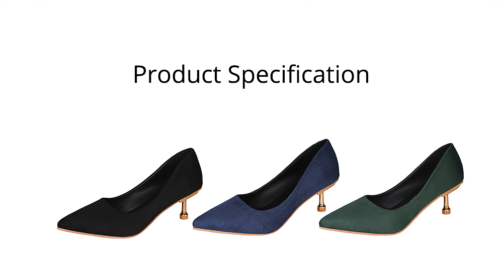 Spring Pointed Slim-heeled Single Shoes, Suede Ladies High-heeled Shoes in 2019, Lady's Black High-heeled Shoes 6CM 6