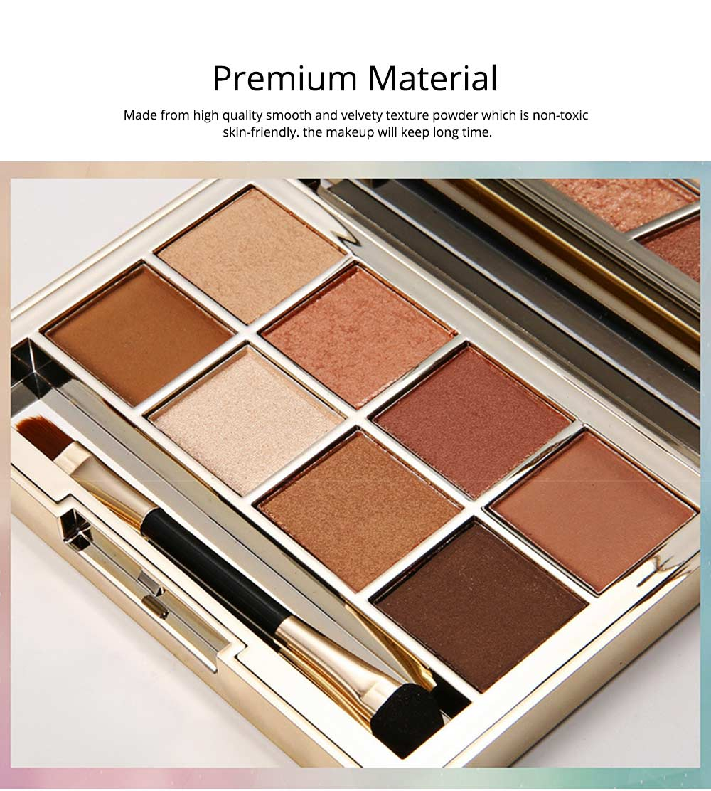 8 Colors Eyeshadow Palette, Matte and Glitter Eyeshadow Palette, Highly Pigmented Makeup Palette, Beauty Cosmetics 3