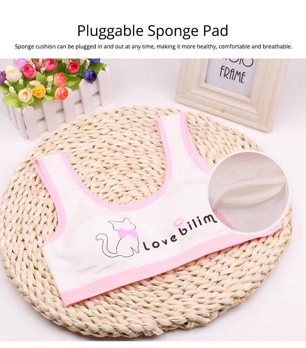 Girl Cotton Bra, Girl Developmental Vest, Wrap Your Chest With A Chest Pad For Junior And Senior High School Students 2