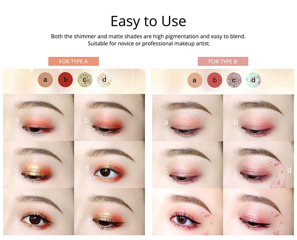 9 Colors Eyeshadow, Palette Glitter Velvet Texture Mixed Eye Makeup, Long Lasting Eye Shadow Tray Best Gift for Women 2