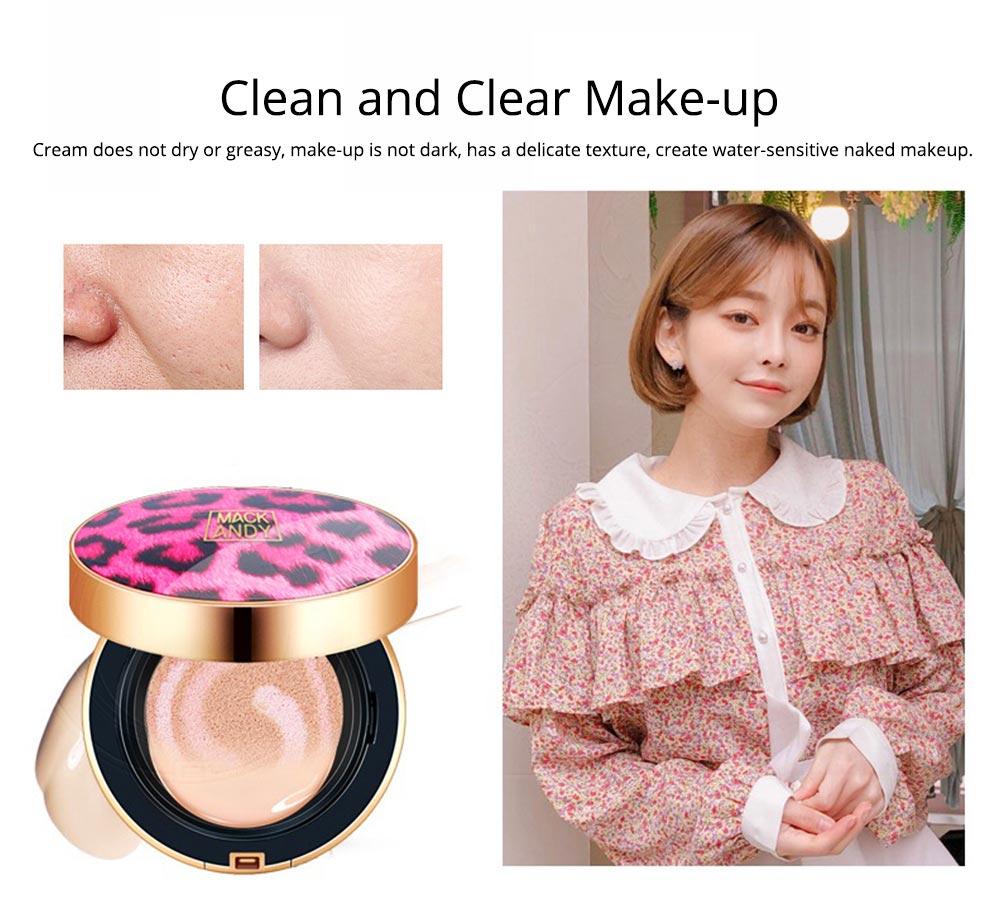 Tri-color Pink Air Cushion BB Cream, Concealer Moisturizing Oil Control Makeup Make Up Foundation Cream 4