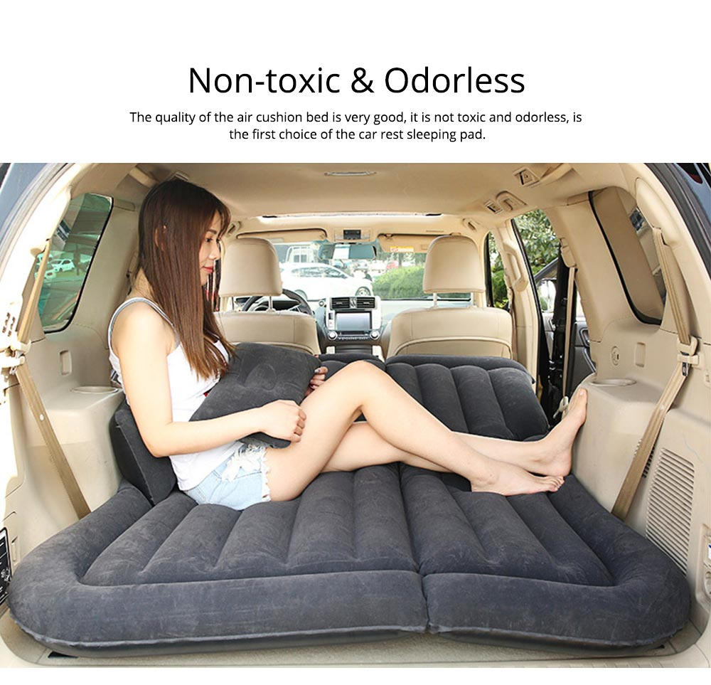 Rear Car Inflatable Bed, Inflatable Travel Car Mattress Air Bed Back Seat Sleep Rest Mat with Pillow 4